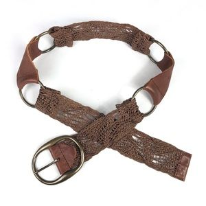 Cabi Brown Leather Belt Boho Gypsy Festival Small